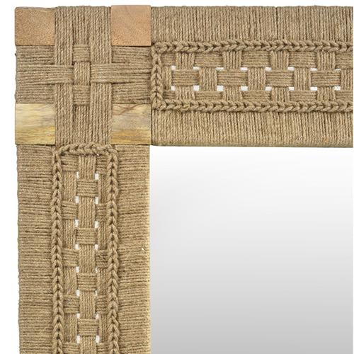 Lifestyle Traders Arizona Mango Wood & Jute Wall Mirror