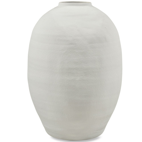 White Tall Nexos Cement Vase Temple Webster