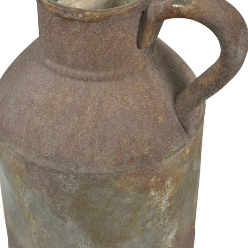 Rust Provence Distressed Stoneware Jar with Handle