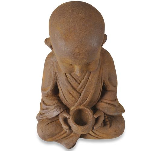 Lifestyle Traders Rust Banyu Cross-Legged Buddha Statue
