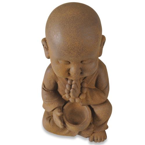 Lifestyle Traders Rust Banyu Praying Buddha Statue