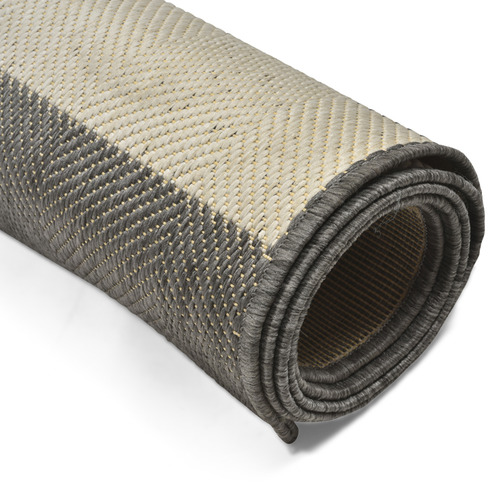Lifestyle Traders Grey & Champagne Striped Suva Outdoor Rug