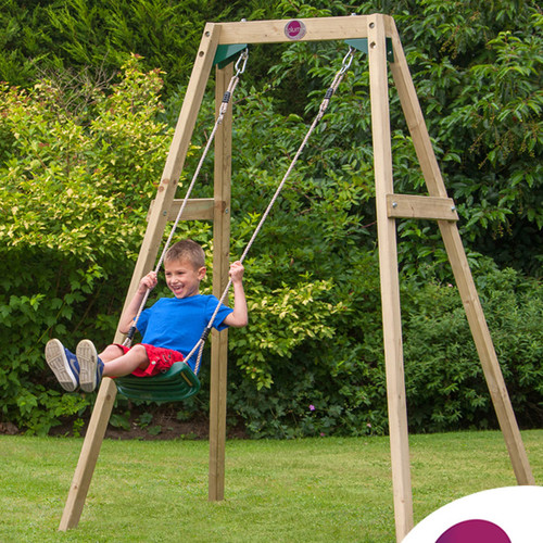 Plum 2 Piece Single Swing Set