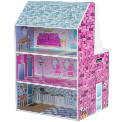Plum 2 in 1 Mini Doll's House & Kitchen
