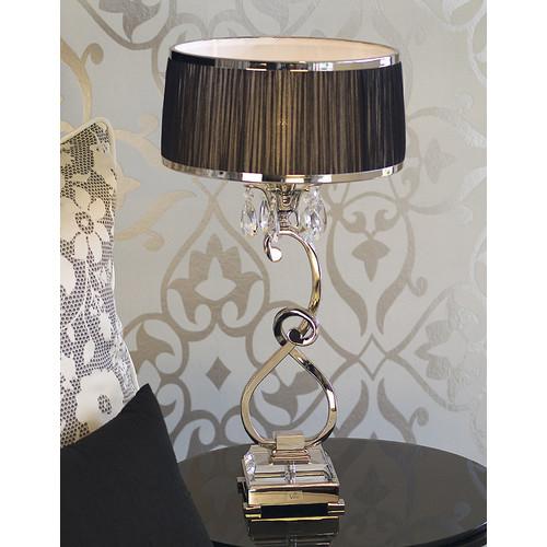 Viore Design Luxuria 1 Light Table Lamp - Black