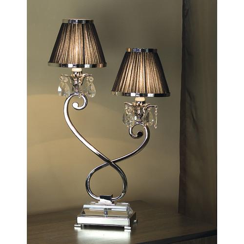 Viore Design Luxuria 2 Light Table Lamp - Black