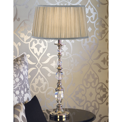 Viore Design Empress Table Lamp - Shimmer Grey