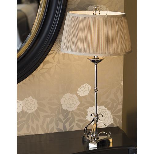 Viore Design Zoya Nickel Table Lamp - Shimmer Grey