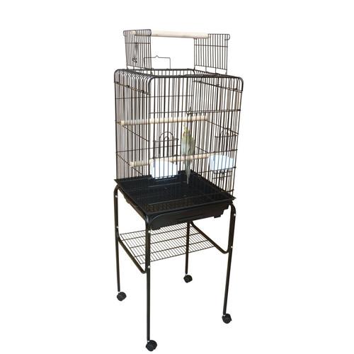 Bono Fido Cockatiel Cage with Stand in Black