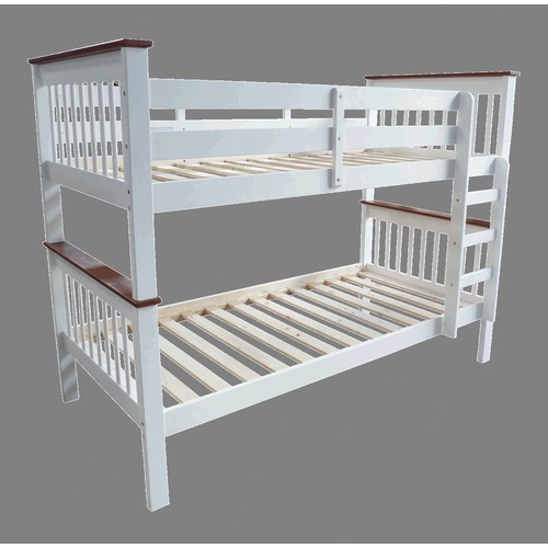 By Designs Two Tone Monza Timber Trundle Bunk Bed