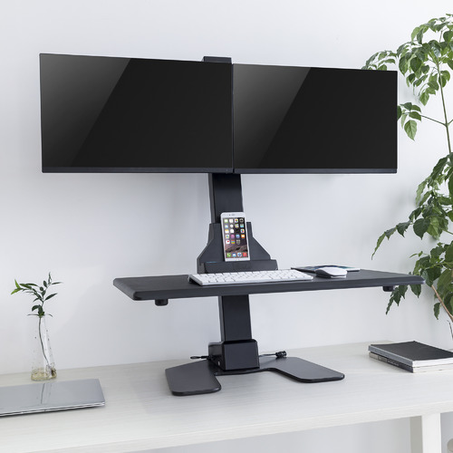 Canohm EDT10 Dual Monitor Stand with Adjustable Keyboard Tray