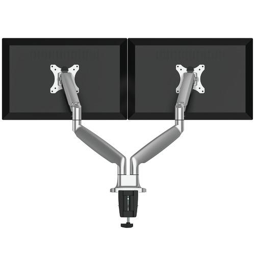 Canohm Grey Ergovida Gas Spring Double Monitor Arm