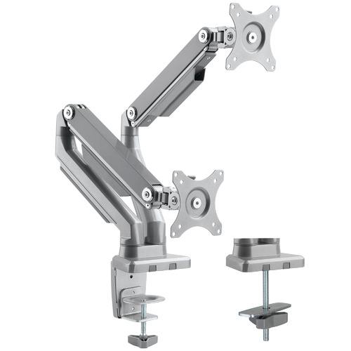 Canohm Grey Ergovida Double Monitor Arm