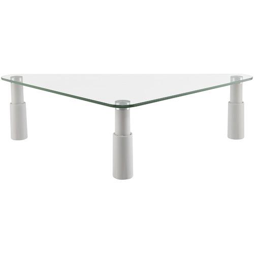 Canohm White Ergovida Glass Triangular Monitor Riser