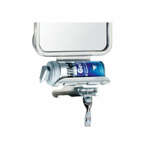 InterDesign Silver Forma Suction Mirror