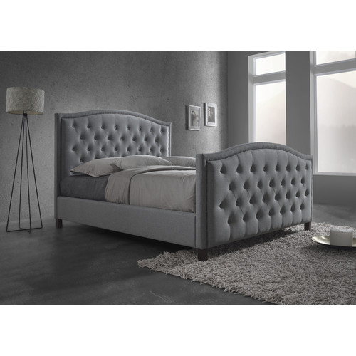 Vic Furniture Light Grey Luxury Queen Bed Frame Amp Reviews