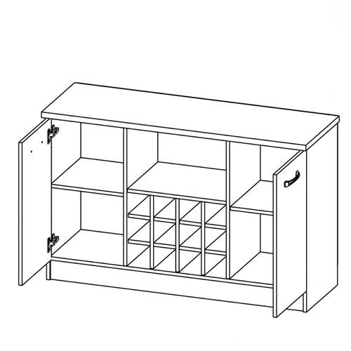 VIC Furniture Asta Wine Cabinet