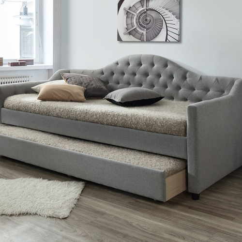 Vic furniture grey york single day bed frame with trundle for York sofa bed