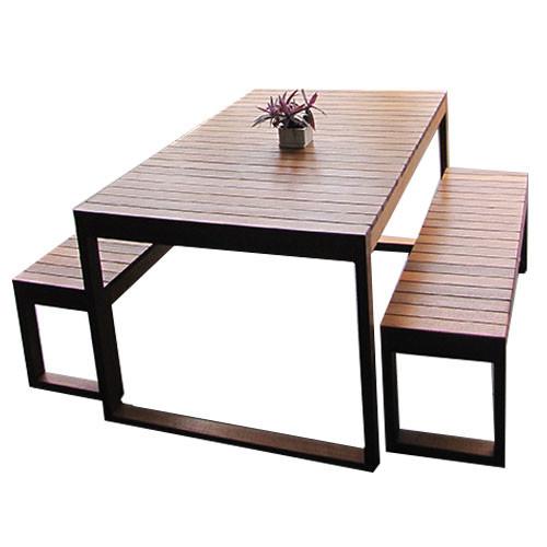 Slim Line Outdoor Table Set Temple Webster