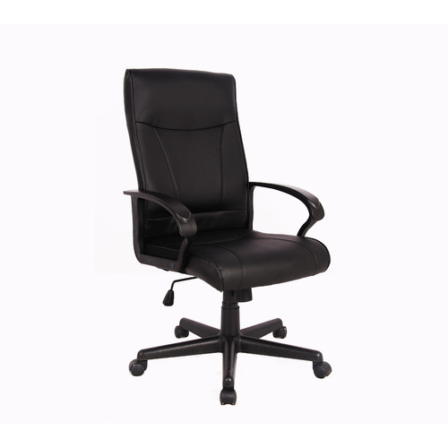 Office Fleet Black Hedvig Faux Leather Office Chair