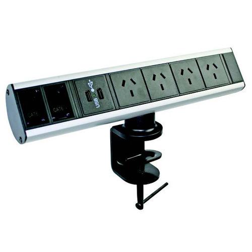 Office Fleet Black Clamp Power Board