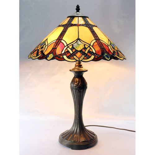 Sunset leadlight table lamp temple webster g amp g brothers sunset leadlight table lamp aloadofball Gallery