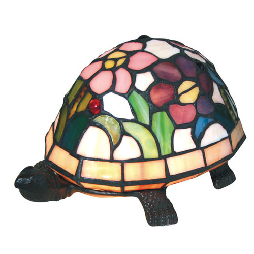 G & G Brothers Rose Turtle Table Lamp