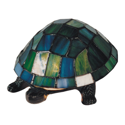 G & G Brothers Turtle Table Lamp with Tiffany Shade