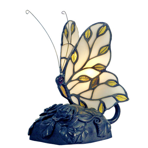 G & G Brothers Helios Tiffany Butterfly Table Lamp