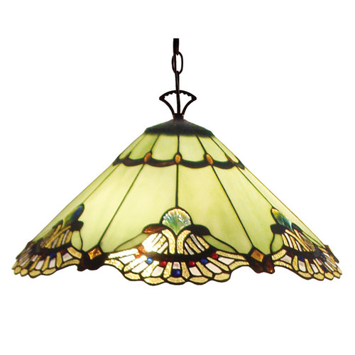 G & G Brothers Benita Leadlight Hanging Pendant