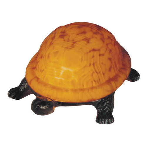 G & G Brothers Amber Turtle Table Lamp