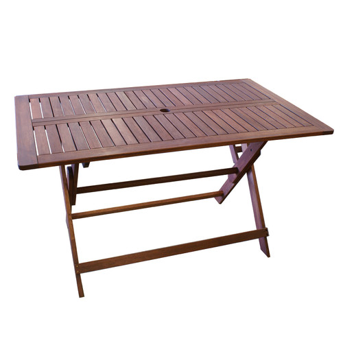 Woodlands Outdoor Furniture Island Shorea Hardwood Folding Table