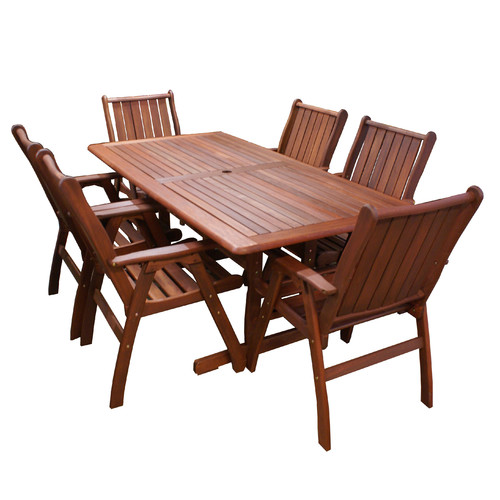 Woodlands Outdoor Furniture 7 Piece Santa Maria Outdoor Dining Table & Chair Set