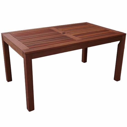 Woodlands Outdoor Furniture Long Rectangular Outdoor Wooden Dining Table
