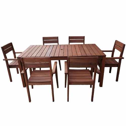 Woodlands Outdoor Furniture 6 Seater Outdoor Table & Chairs Set