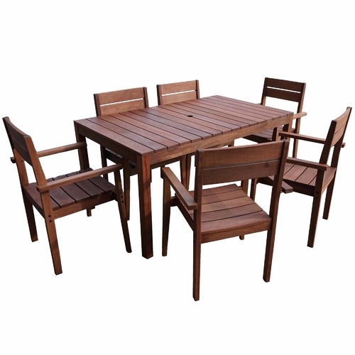 Woodlands Outdoor Furniture 6 Seater Outdoor Dining Table & Chair Set