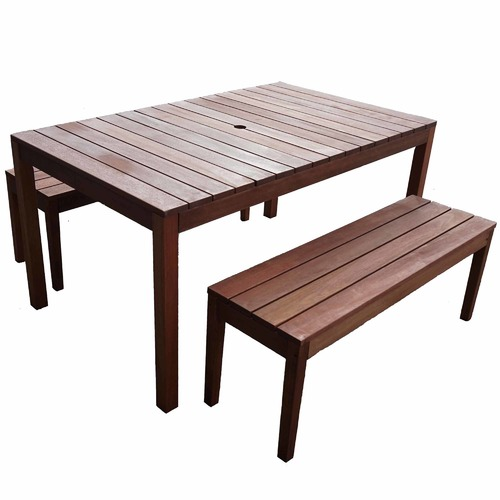 Woodlands Outdoor Furniture 4 Seater Outdoor Dining Table & Bench Set