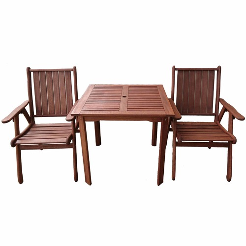 2 Seat Dining Table Sets: 2 Seater Square Outdoor Dining Table & Chairs Set