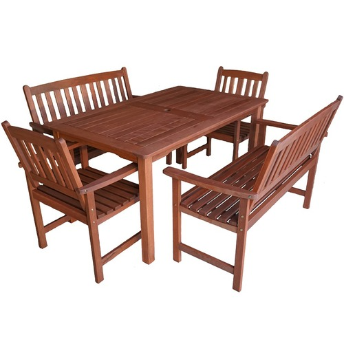Woodlands Outdoor Furniture 6 Seater Malay Outdoor Table & Seat Set