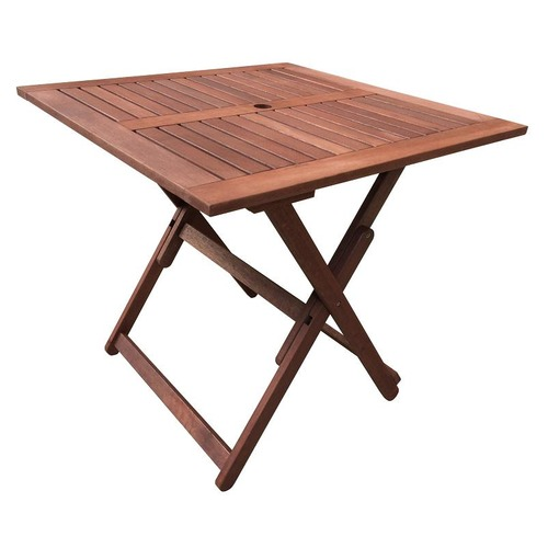 Woodlands Outdoor Furniture Wells Folding Square Table