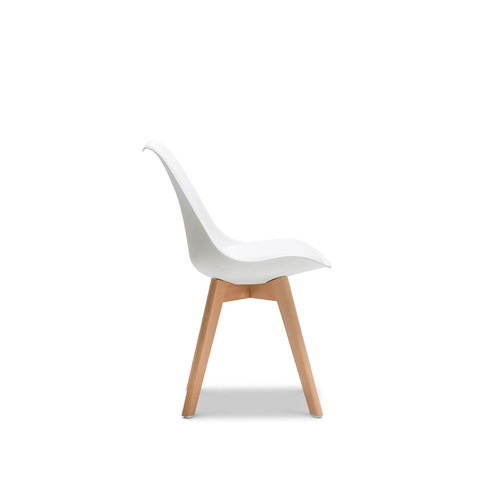 Continental Designs White Padded Eames Replica Chairs