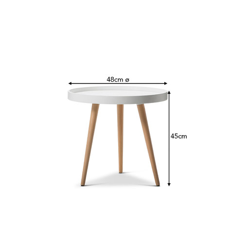 Continental Designs Jokum Scandinavian Style Tray Side Table