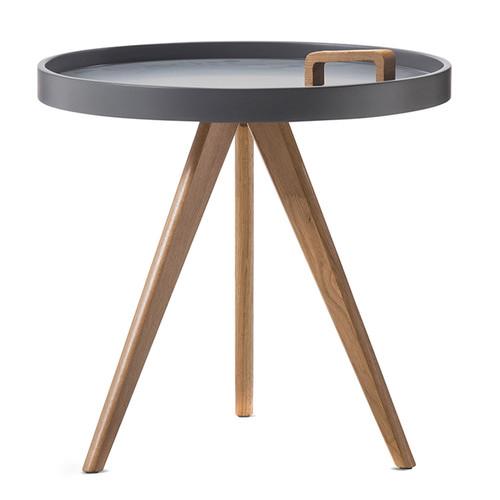 Scandinavian Design Side Tables: Jokum Scandinavian Side Table With Handle