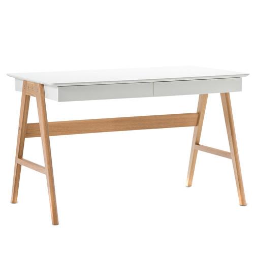 white scandi 2 drawer desk temple webster. Black Bedroom Furniture Sets. Home Design Ideas