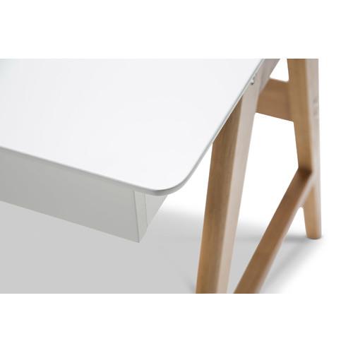 Continental Designs White Scandi 2 Drawer Desk & Reviews