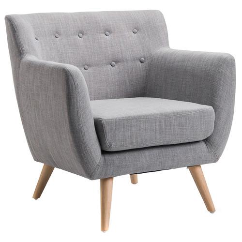 Genial Continental Designs Grey Mid Century Retro Armchair