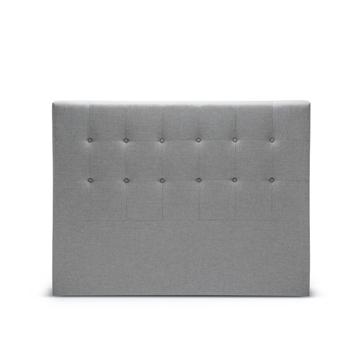 Grey Emma Button Tufted Upholstered Queen Bedhead Temple Webster
