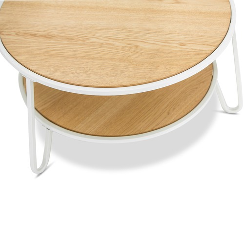 Continental Designs White Macy Round Coffee Table