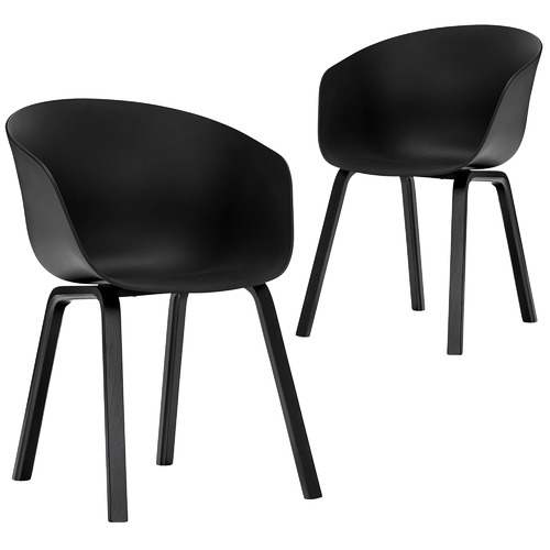 Black Hay Scoop Replica Dining Chairs Temple Webster