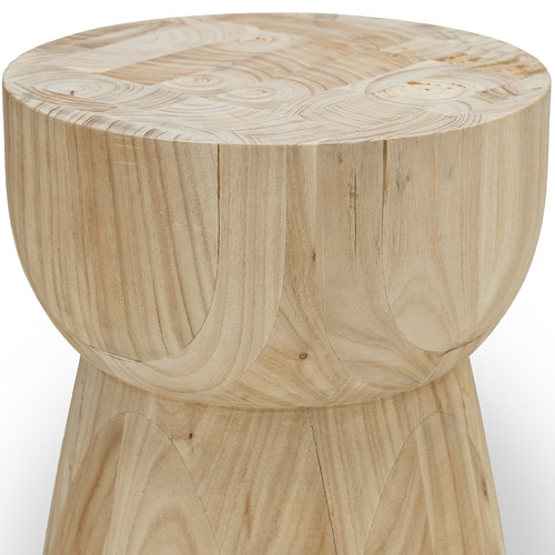 Natural Hourglass Eggcup Replica Wooden Stool